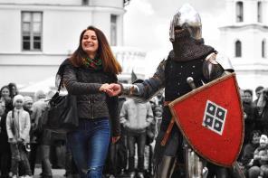 Рыцарское шоу, поединки рыцарей, похищение невесты на свадьбе