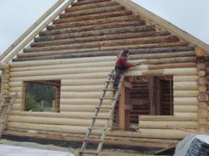 Шлифовка деревянных срубов