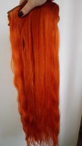 Продам натуральные волосы на заколках роскошного рыжего цвета