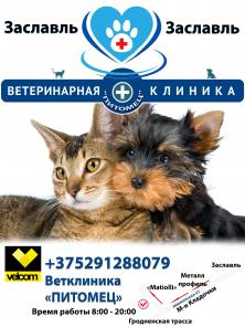 Ветеринарный врач выезд на дом - Заславль