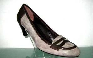 Комфортные женские кожаные туфли на среднем каблуке. Качество.