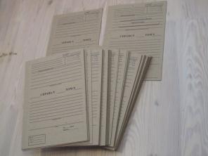 Картон для переплёта Архива. Печать титулки.