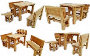 Дубовый набор мебели - БАННЫЙ (табурет – дубовый лист).