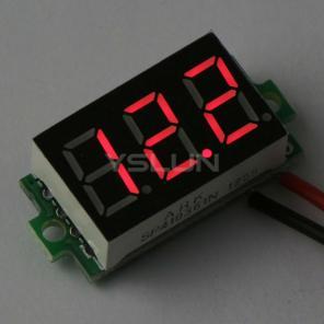 Цифровой вольтметр постоянного тока (4.7-32 В, свечение красным)
