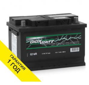 Аккумулятор Gigawatt (Германия) 74Ah с доставкой и установкой