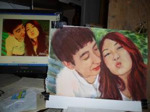 Пишу портреты с фото на заказ в подарок недорого и в срок