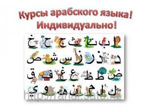 Арабский язык индивидуально