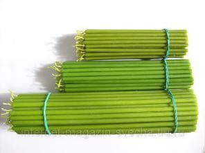 Зеленые восковые свечи