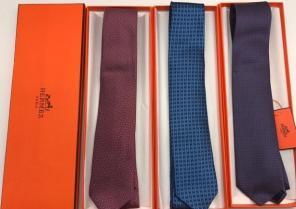 Галстуки Hermes, Louis Vuitton, Etro, Gucci в подарочной упаковке