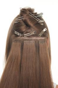 Волосы на лентах, ленты для коррекции в наличии
