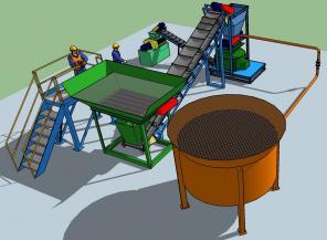 Минизавод переработки илов и сплавины в удобрения