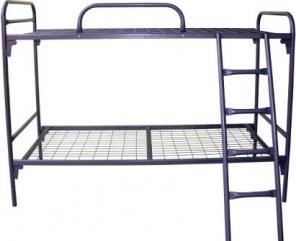 Двухъярусные кровати металлические для строителей, хостелов недорого