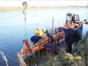 Земснаряд с береговым обогатительным комплексом для ПГС
