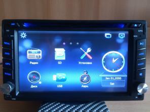Автомагнитола 2DIN мультимедийная с GPS. Новая.