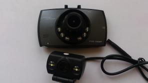 Видеорегистратор CarCam Corder 2 камеры, снимает перед+зад авто.