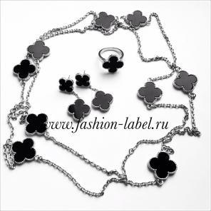 Браслеты, кольца, колье Van Cleef & Arpels, серебро, перламутр