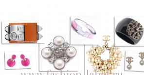 Бижутерия Chanel: бусы, браслеты, серьги модные новинки
