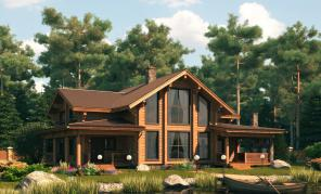 Строительство домов из лафета.