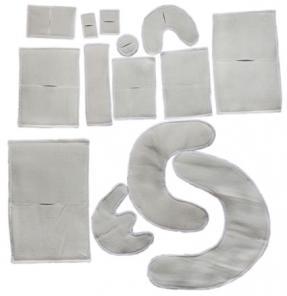 Электроды физиотерапевтические фланелевые с токопроводящей углеродной