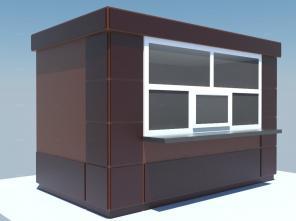 Строительство киосков из композиционных материалов.
