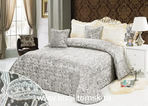 Серебренный Joseph жаккардовое покрывало на кровать.