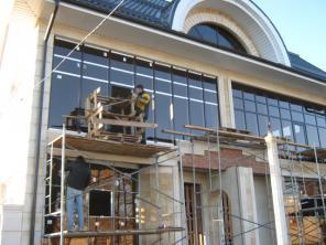 Алюминиевые фасады.панорамное остекление витражей
