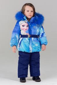 Bilemi Зимний костюм на девочку био-пух 316618 голубой