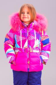 Bilemi Зимний костюм для девочки био-пух 315298 розовый