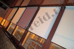 Рулонные шторы на коричневые пластиковые окна, под Ваши размеры
