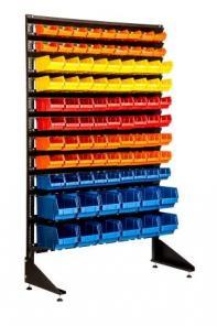 Пристенный стеллаж с ящиками (лотками) под крепеж