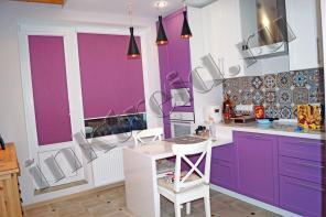 Рулонные шторы на кухню, самую главную комнату в квартире )