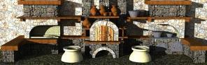 Печной комплекс-чудо кухня