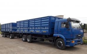 КАМАЗ 65117 зерновоз самосвал с прицепом в наличии
