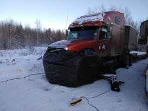 Профессиональный отогрев грузовиков в Мегионе.