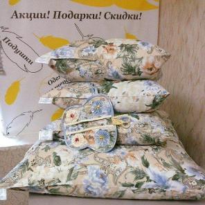 Чистка подушек, перин, одеял с заменой наперника