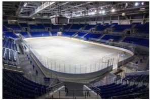 Обслуживание ледовых катков, стадионов и арен.