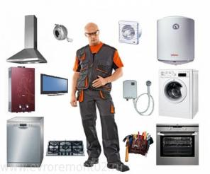 Подключение стиральных и посудомоечных машин, электроплит, духовых шк.