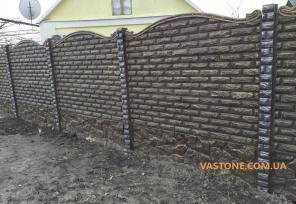 Еврозабор односторонний, двухсторонний бетонный забор