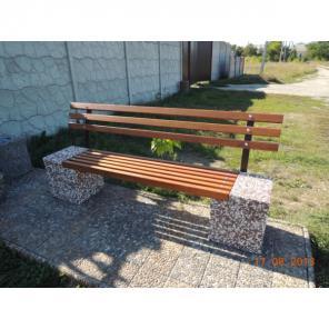 Скамейка садовая, лавочка парковая, скамья бетонная для сада, двора