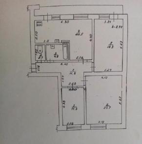 Продается квартира, трехкомнатная очень красивая в Центре с ремонтом.