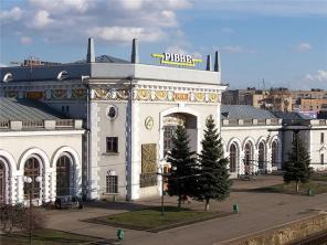 Реклама на ЖД Вокзале Ровно, компания Piko.