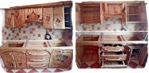 Кухня - полностью из массива Дуба.