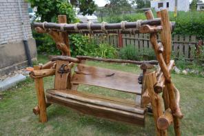 Продаю эксклюзивные дубовые качели с гамаком, ручной работы