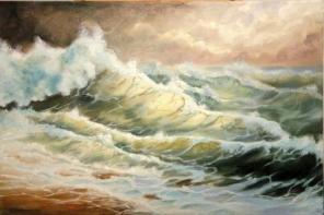 Картина «маслом» на холсте неизвестного талантливого художника.