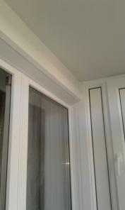 Обшивка балконной стены с откосами на балконный блок.