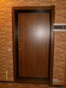 Откосы входной двери