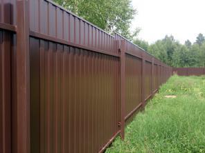 Металлопрофиль. Забор из профлиста. Ворота.