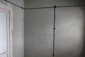 Резка штроб в стенах и полах.