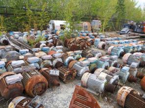 Сгоревшие эл.двигатели, генераторы, трансформаторы на лом, кабель