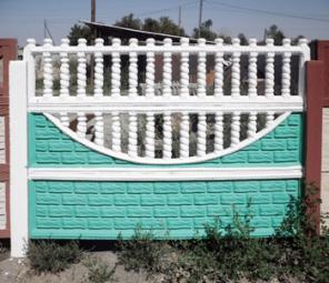 Декоративные железо-бетонные заборы